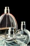 Drei Flaschen Parfüme stockfoto