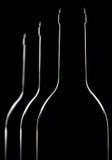 Drei Flaschen Rotwein stockfotos