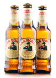 Drei Flaschen von Birra Moretti Stockbild