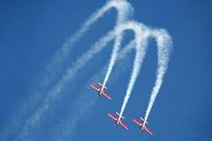 Drei Flugzeuge auf airshow Stockfotos