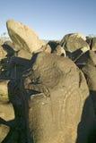 Drei Fluss-Petroglyphe-nationaler Standort, Büro a (BLM) des Raumordnungs-Standorts, gebürtiges indianisches PET als 21.000 der F Stockbild