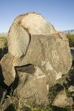 Drei Fluss-Petroglyphe-nationaler Standort, Büro a (BLM) des Raumordnungs-Standorts, gebürtiges indianisches PET als 21.000 der F Lizenzfreie Stockfotos