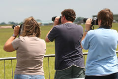 Drei Fotografen Lizenzfreie Stockbilder