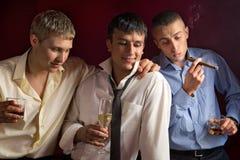 Drei Freunde Stockfoto