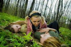 Drei Freunde stockbilder
