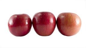 Drei frische Fuji-Äpfel Lizenzfreies Stockbild