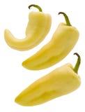 Drei gelbe Pfeffer Stockfotos