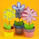 Drei gemalte Blumen Lizenzfreie Stockfotos