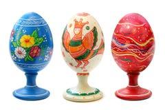 Drei gemalte Ostereier Lizenzfreie Stockfotografie