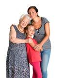 Drei Generationen von Frauen Stockfotografie