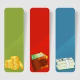 Drei Geschäfts-Feld Lizenzfreie Stockbilder