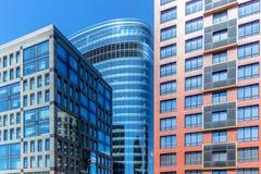 Drei Geschäftsgebäude Lizenzfreies Stockfoto