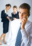 Drei Geschäftsleute Stockfotos