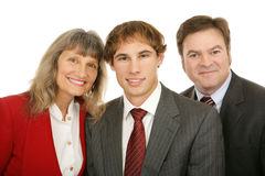 Drei Geschäftsleute Stockfoto