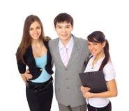 Drei Geschäftsmänner im Büro Lizenzfreie Stockfotos