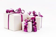Drei Geschenkboxen Stockfotografie