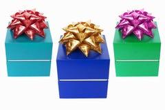 Drei Geschenke Lizenzfreies Stockfoto