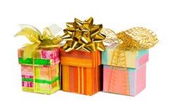 Drei Geschenke Stockbild