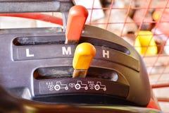 Drei Geschwindigkeits-Traktor-Schalthebel-Griff Stockfoto