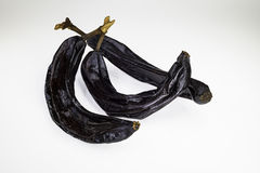 Drei getrocknete Bananen Stockbild