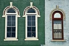 Drei gewölbte Fenster Stockbild