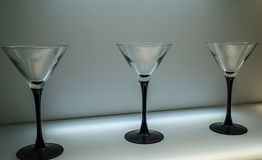 Drei Gläser stockfoto