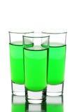 Drei Gläser Wermut lizenzfreies stockbild