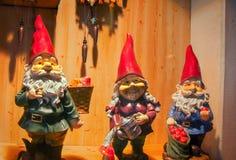 Drei Gnomes lizenzfreie stockbilder
