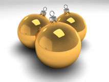 Drei Goldweihnachtsfühler vektor abbildung