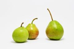 Drei grüne Birnen Lizenzfreies Stockfoto