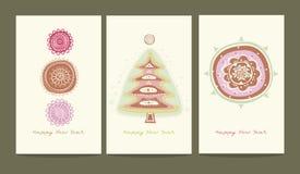 Drei Grußkarten Stockbild