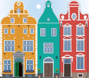 Drei Häuser Lizenzfreie Stockfotos