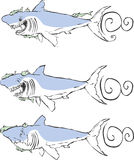 Drei Haifische Lizenzfreie Stockfotos