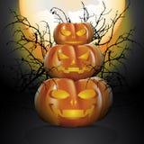 Drei Halloween-Kürbise Lizenzfreie Stockfotos