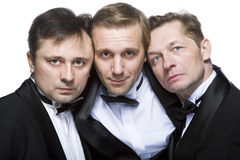 Drei Herren Stockfotos