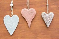 Drei Herz-Formen Lizenzfreies Stockbild