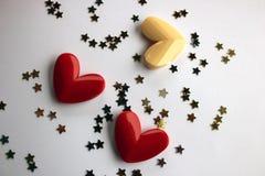 Drei Herzen für Valentinsgruß Lizenzfreies Stockfoto