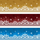 Drei Hintergründe zum Weihnachten Stockbild