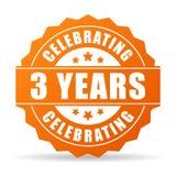 Drei Jahre Jahrestag, die Ikone feiern lizenzfreie abbildung