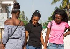 Drei jung und recht jamaikanische Frauen Stockbild