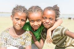 Drei junge äthiopische Mädchen Lizenzfreies Stockfoto