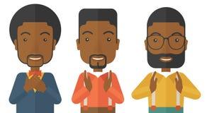 Drei junge schwarze hübsche Geschäftsmänner lizenzfreie abbildung