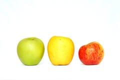 Drei köstliche Äpfel Stockbild