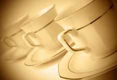 Drei Kaffeetassen Stockfoto