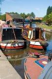 Drei Kanalboote Stockbilder