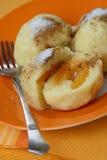 Drei Kartoffelmehlklöße Stockfotografie