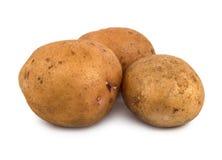 Drei Kartoffeln Stockfoto