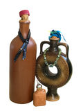 Drei keramische Flaschen Stockbild
