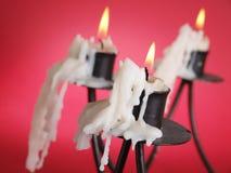 Drei Kerze lizenzfreie stockfotografie