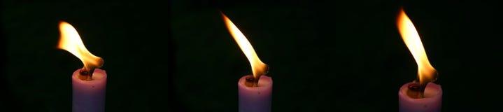 Drei Kerze stockfotografie